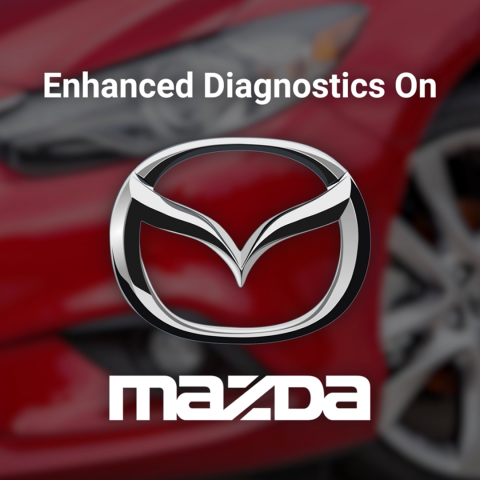 Mazda enhanced diagnostics are now supported for all Mazda Models 1996 to present